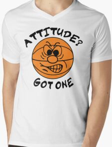 Basketball Attitude Mens V-Neck T-Shirt