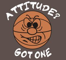 Basketball Attitude Dark Kids Clothes