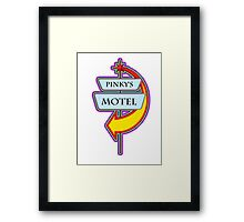 Pinky's Motel campy truck stop tee  Framed Print