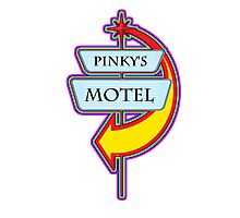 Pinky's Motel campy truck stop tee  Photographic Print