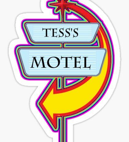 Tess's Motel campy truck stop tee  Sticker