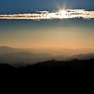 Morning Sun Over the Smoky Mountains by dlhedberg