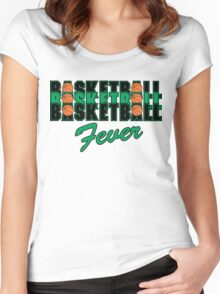 Basketball Fever Women's Fitted Scoop T-Shirt