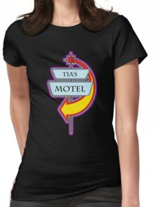 Tia's Motel campy truck stop tee  Womens Fitted T-Shirt