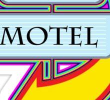 Tia's Motel campy truck stop tee  Sticker