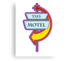 Tia's Motel campy truck stop tee  Canvas Print