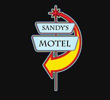 Sandy's Motel campy truck stop tee  Womens Fitted T-Shirt