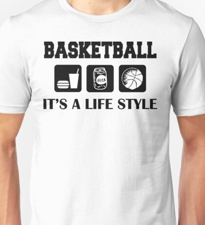 Eat Drink Beer Play Basketball Unisex T-Shirt