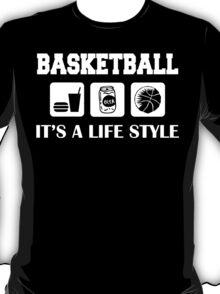 Eat Drink Beer Basketball T-Shirt