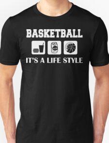 Eat Drink Beer Basketball Unisex T-Shirt