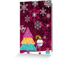 Playful Christmas Brings Joy Greeting Card