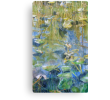 One Mile Lake, watercolor on paper mounted on board Canvas Print