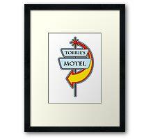 Torrie's Motel campy truck stop tee  Framed Print