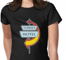 Torrie's Motel campy truck stop tee  Womens Fitted T-Shirt