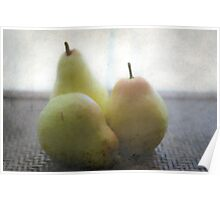 3 Pears Poster