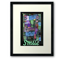 SMILE Banner Framed Print
