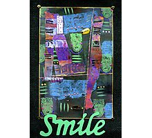 SMILE Banner Photographic Print