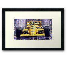Lotus 99T SPA 1987 Ayrton Senna Framed Print