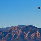 Boulder Colorado Flatirons Hot Air Balloon View  by Bo Insogna