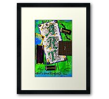 Art is About Mystery Framed Print