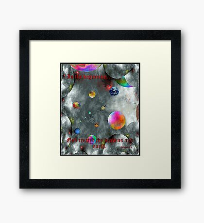 God Created Framed Print