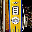 Blue Sunoco vintage gas pump by htrdesigns