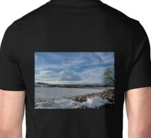 White Winter , Blue Winter Unisex T-Shirt