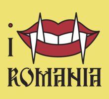 I LOVE ROMANIA T-shirt Kids Clothes