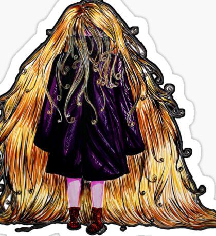 Faceless Girl au manteau et liseré noir Sticker