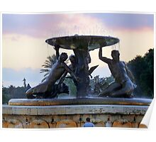 Fountain of Tritons Valetta Poster