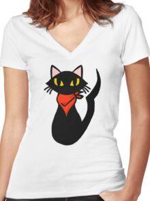 Cat Sissel Women's Fitted V-Neck T-Shirt