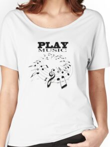PLAY MUSIC Women's Relaxed Fit T-Shirt