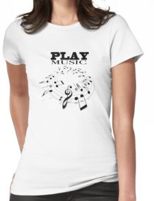 PLAY MUSIC Womens Fitted T-Shirt