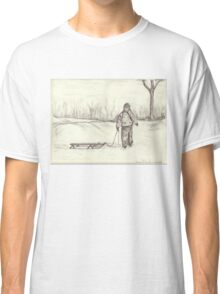 Boy and His Sleigh Classic T-Shirt