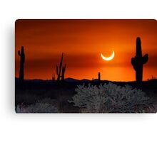 Partial Annular Eclipse from Cave Creek, Arizona 2012 - I Canvas Print