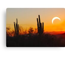 Partial Annular Eclipse from Cave Creek, Arizona 2012 - II Canvas Print