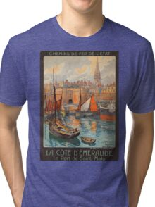 Vintage poster - France Tri-blend T-Shirt