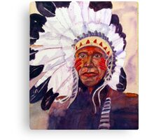 CHIEF RED DOG Canvas Print
