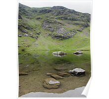 Refelections - Levers Water, Coniston, Lake District Poster