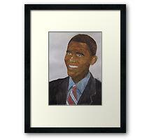 Obama at Inauguration Framed Print