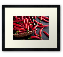 Basket of Chilies Framed Print