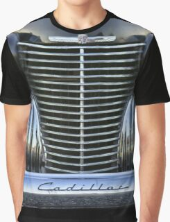 Black Cadillac Grill and Headlights Graphic T-Shirt