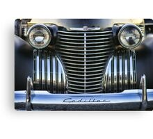 Black Cadillac Grill and Headlights Canvas Print