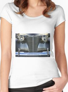 Black Cadillac Grill and Headlights Women's Fitted Scoop T-Shirt