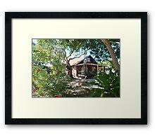 Charming beach cottage Framed Print