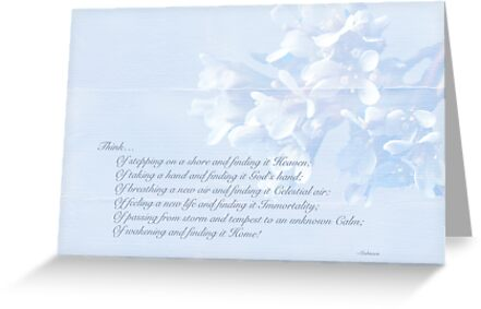 Sympathy Greeting Card - Hairy Bittercress Wildflower by MotherNature
