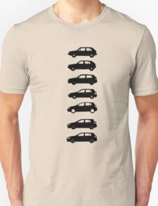 VW Golf Black Mk1-Mk7 Unisex T-Shirt