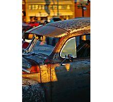 Old Plymouth Car Visor Photographic Print
