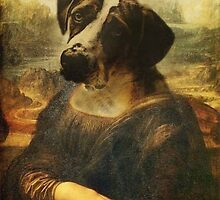 Dog/Mona Lisa by Lutubert