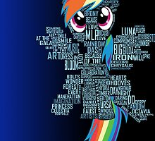 Rainbow Dash Typography by jblee22